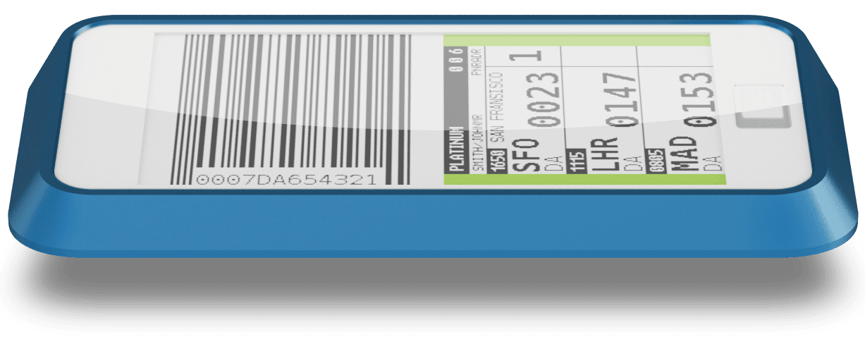 Bagtag Wireless Electronic luggage label perspective view