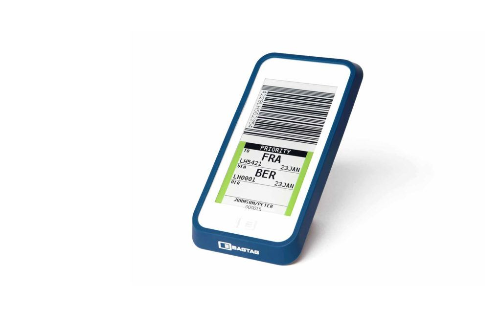 Electronic luggage label design