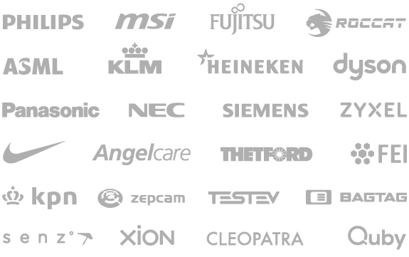 Design studio Panasonic NEC SIEMENS ASML Nike Angelcare Thetford FEI KPN ZEPCAM TESTEV BAGTAG