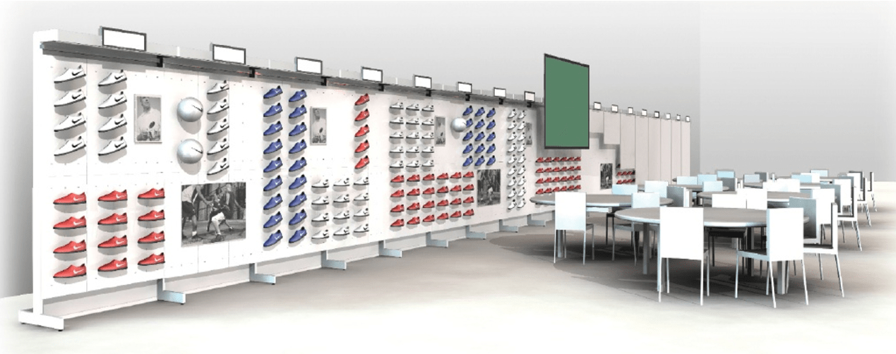 Nike Modular Stand System wall set up