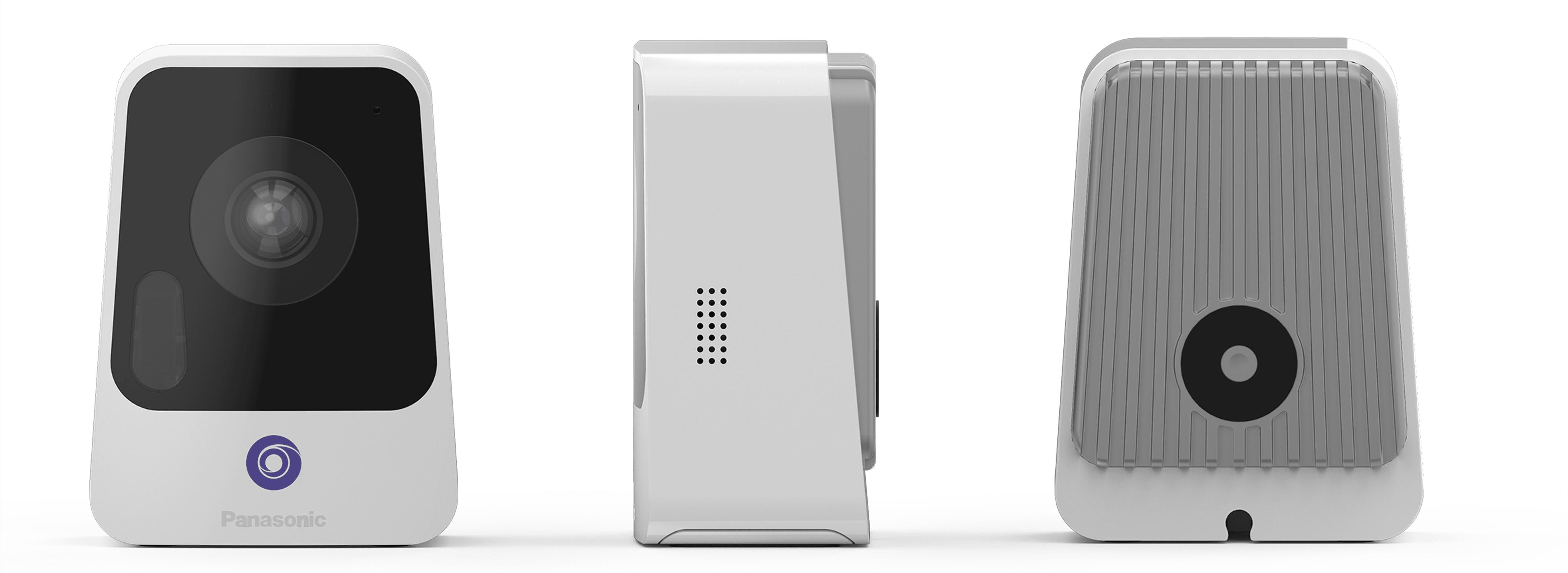 Panasonic nubo 4g security camera slimdesign smart product front right back views